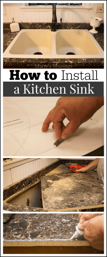 how to install kitchen sink in new countertop how to install a kitchen sink 9772