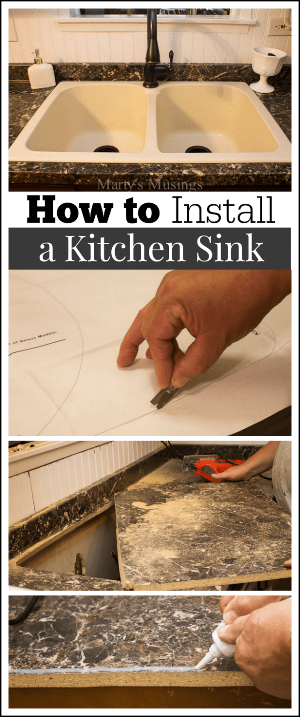 install new kitchen sink how to install a kitchen sink 4722